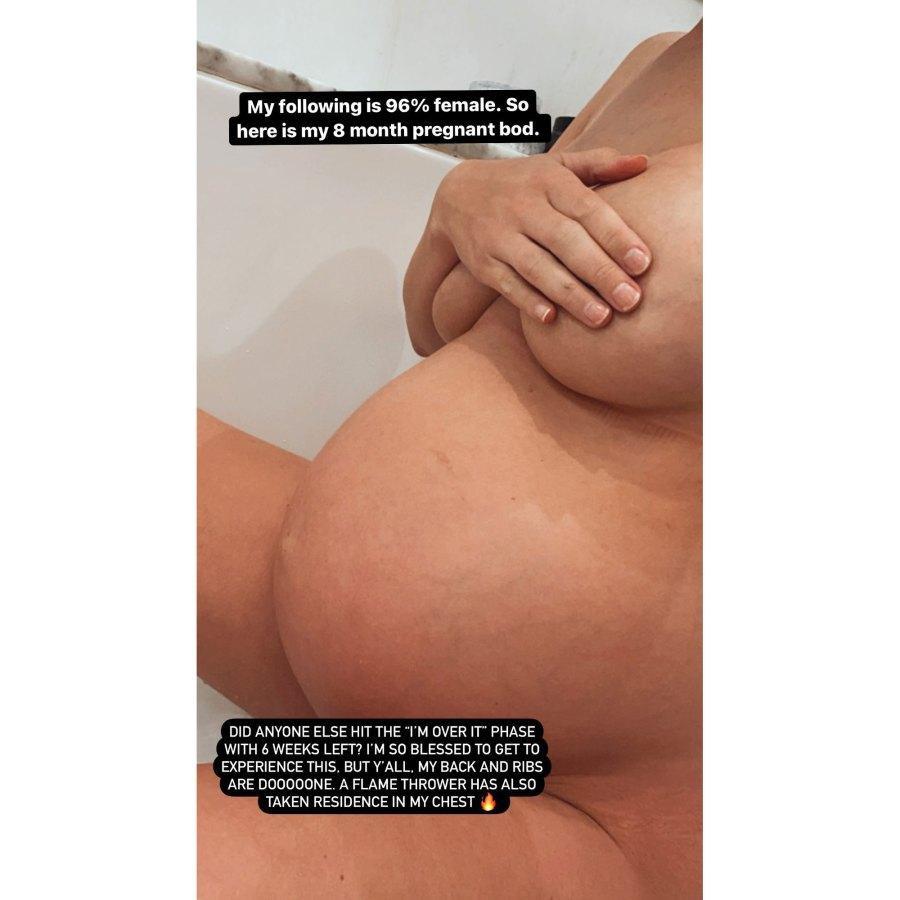Pregnant Lala Kent 8-Month Baby Bump Nude Selfie
