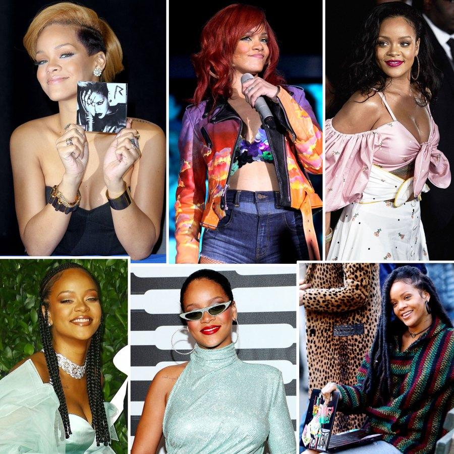 Rihanna Through Years