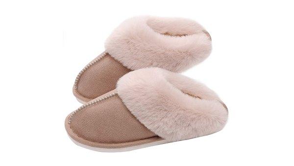 SOSUSHOE Women's Memory Foam Fluffy Fur Soft Slippers
