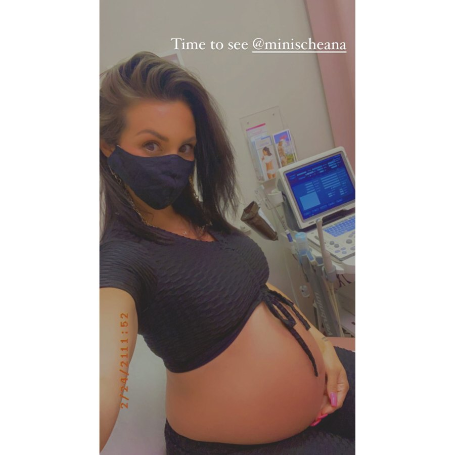 Scheana Shay Crop Top Pregnant