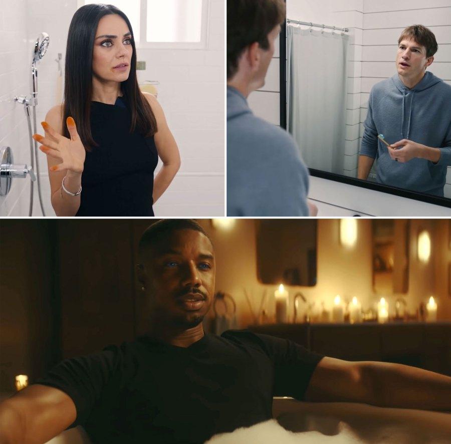 Super Bowl 2021 Commercials Ashton Kutcher and Mila Kunis, Michael B. Jordan