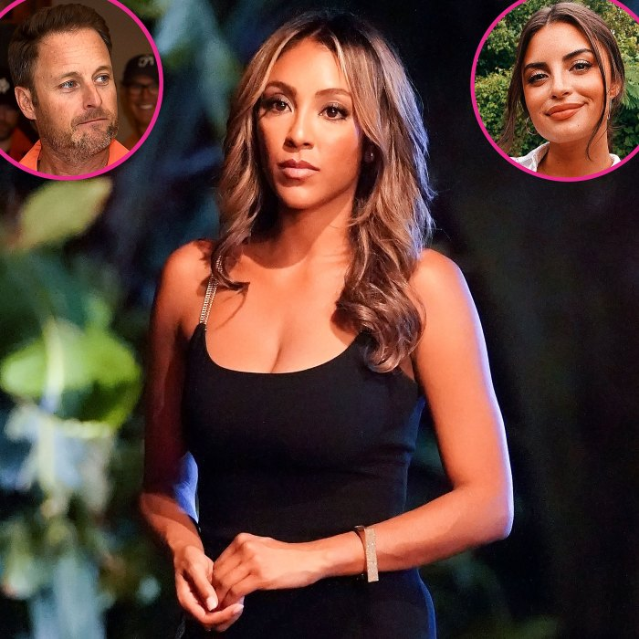 Tayshia Adams cuestiona la defensa de Chris Harrison de Rachael Kirkconnell