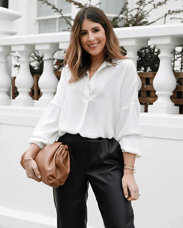 Camisa blanca extragrande con pop-over The Drop para mujer de @wearetwinset