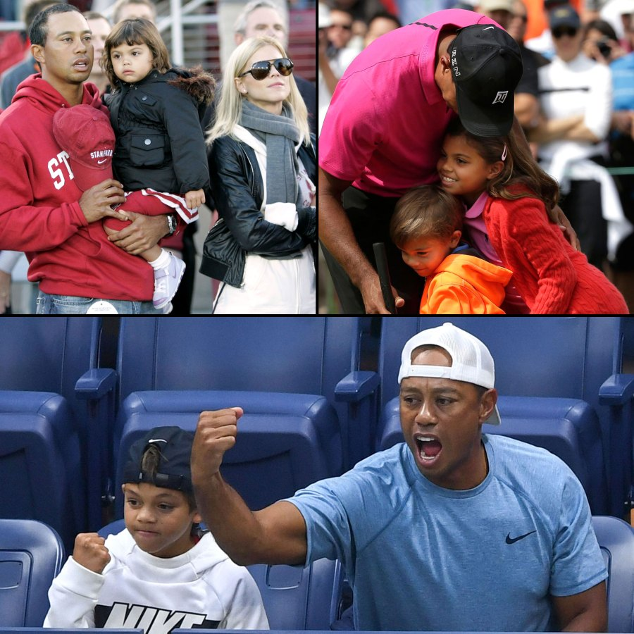Tiger Woods Family Album With Elin Nordegren Kids Charlie Axel Woods and Sam Alexis Woods