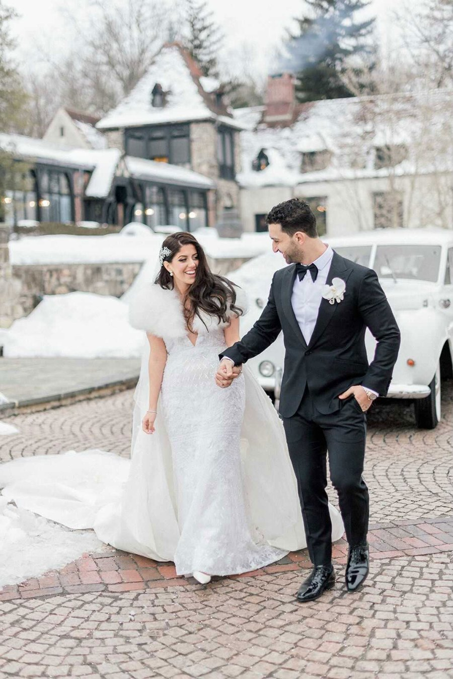 Victoria Wakile and Teddy Kosmidis Real Housewives of New Jersey Stars Who Got Married in 2021 Wedding Photo