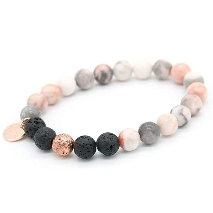 AURA Lava Rock Anti-Anxiety Bracelet with Lavender Essential Oil