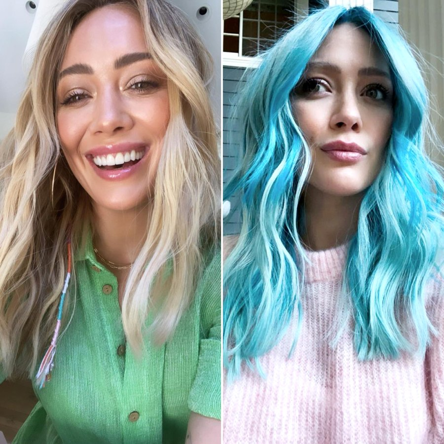 Hilary Duff Celebrity Hair Transformations of 2021