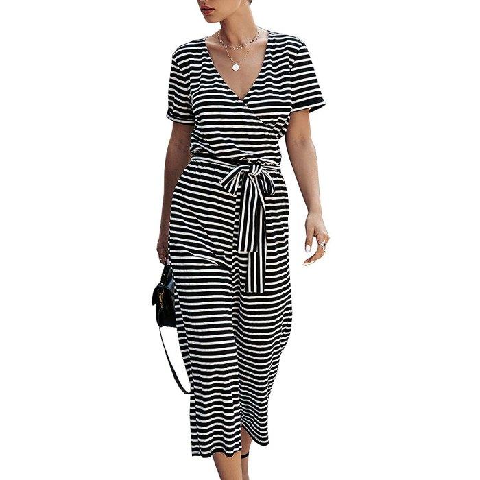 prettygarden-striped-jumpsuit-black-white