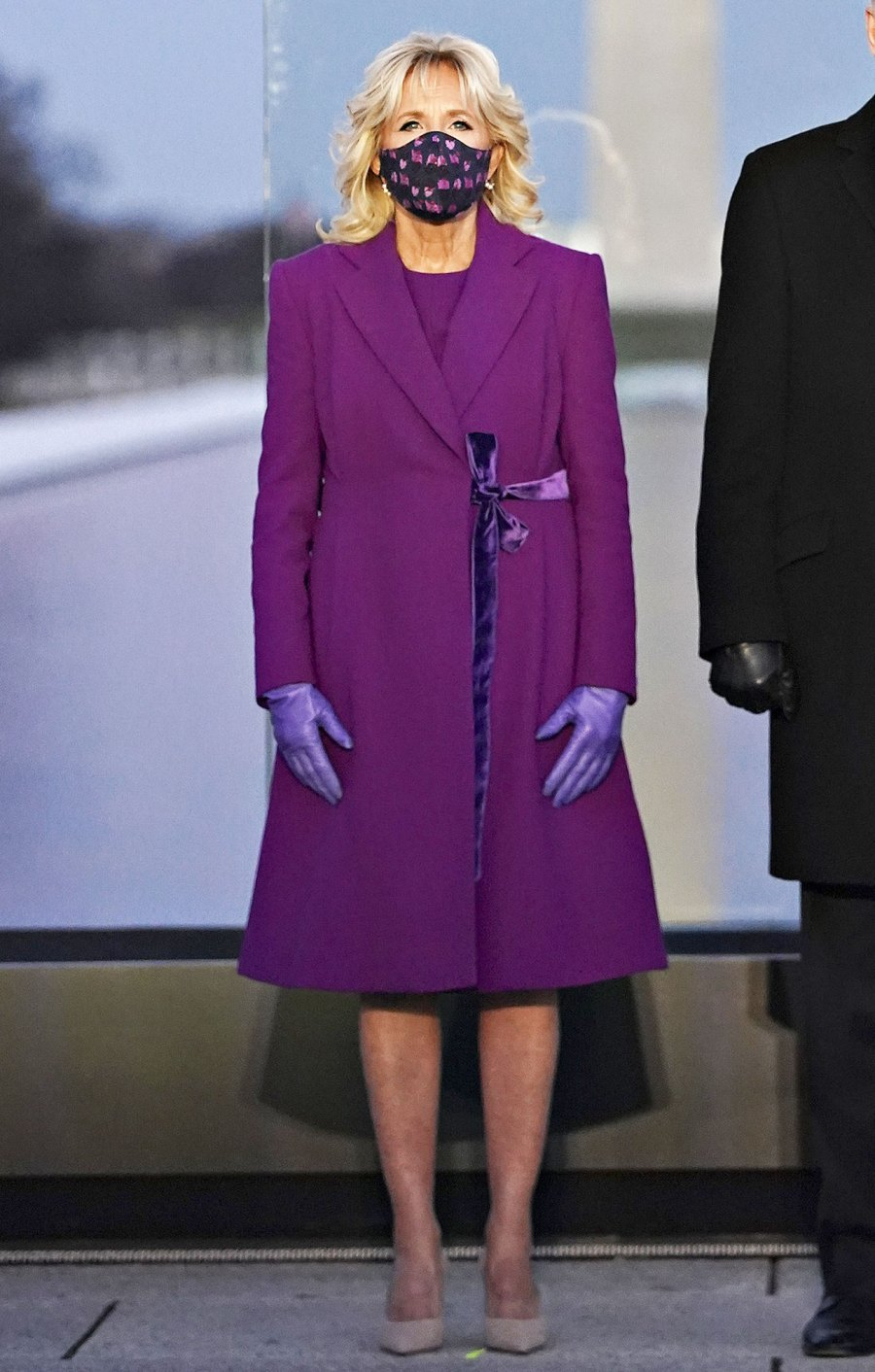 Jill Biden in Purple at at the Lincoln Memorial Reflecting Pool during a Covid-19 memorial Dr Jill Biden Most Stylish Moments Since Becoming FLOTUS