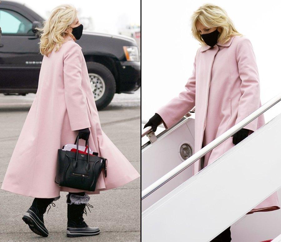 Jill Biden Wearing a Pink Coat Dr Jill Biden Most Stylish Moments Since Becoming FLOTUS