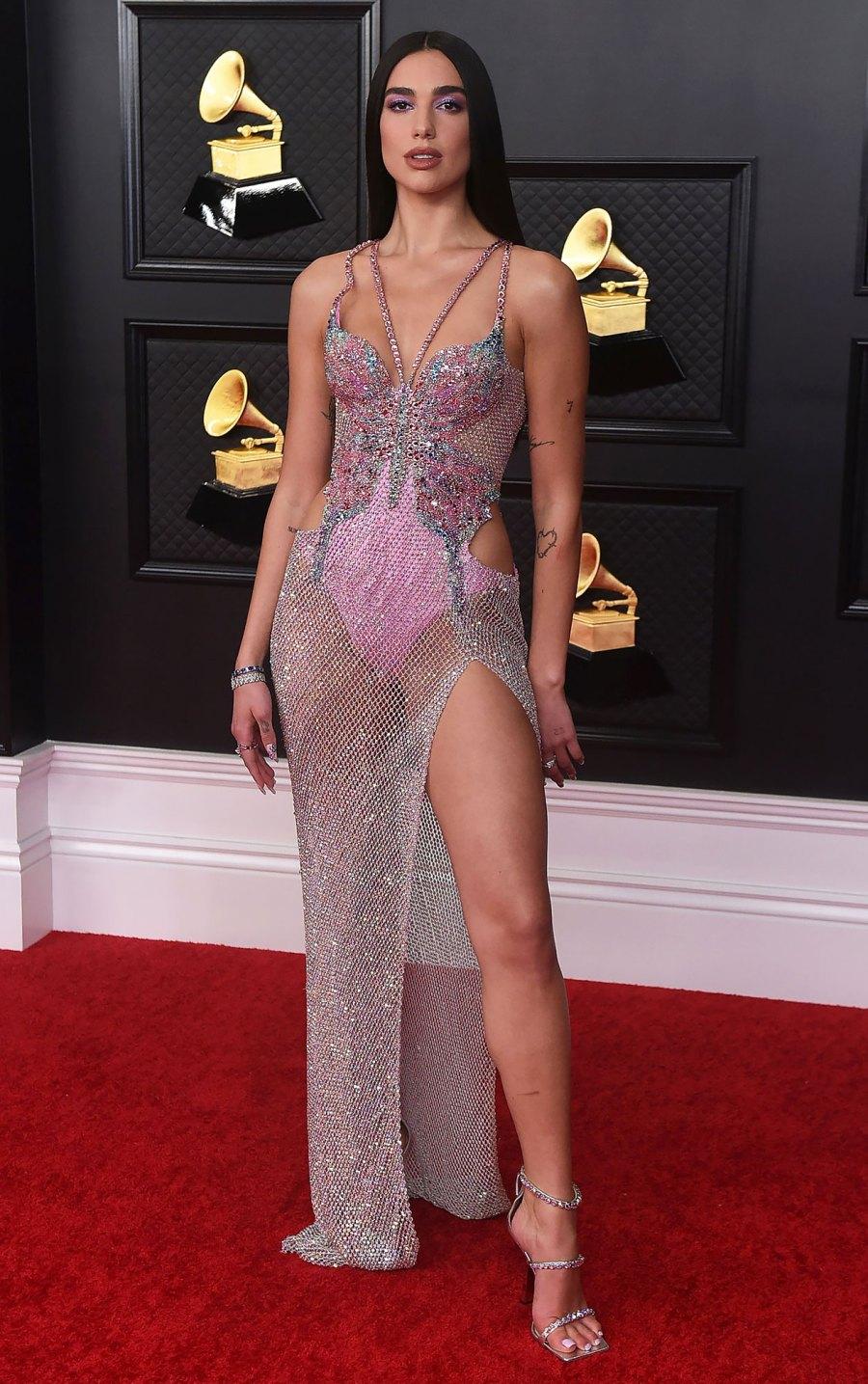 2021 Grammy Awards Red Carpet Arrivals - Dua Lipa
