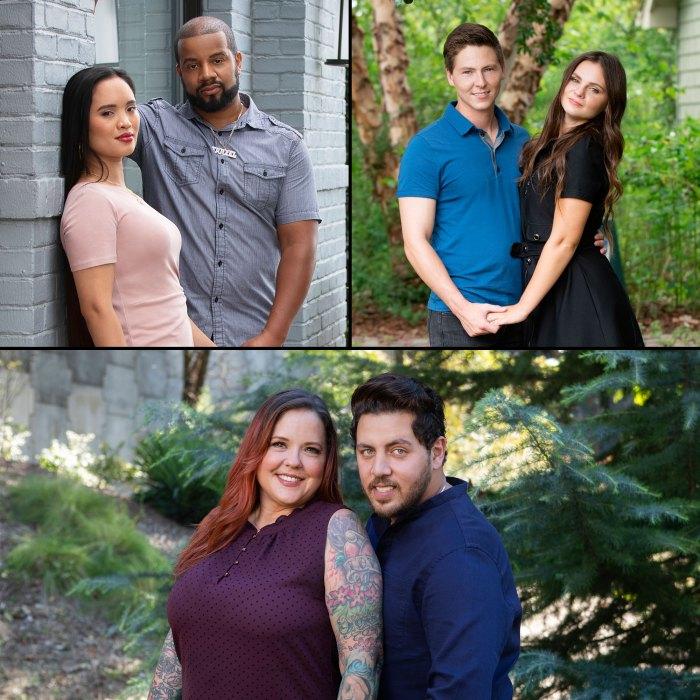 El prometido de 90 días Tarik y Hazel, Brandon y Julia, y Rebecca y Zied se casan
