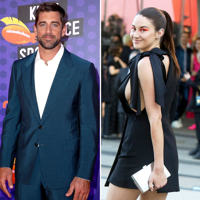 Aaron Rodgers Fiancee Shailene Woodley Hold Hands Smile Arkansas