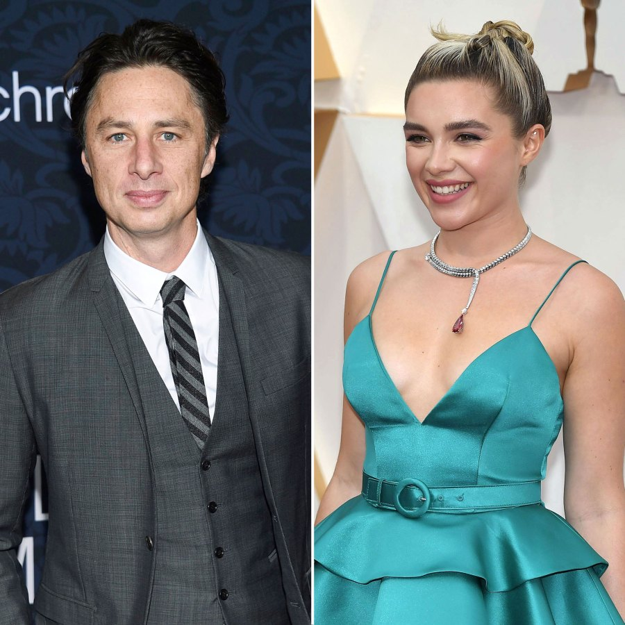 April 2019 Spotted Holding Hands Zach Braff and Florence Pugh A Timeline of Their Relationship
