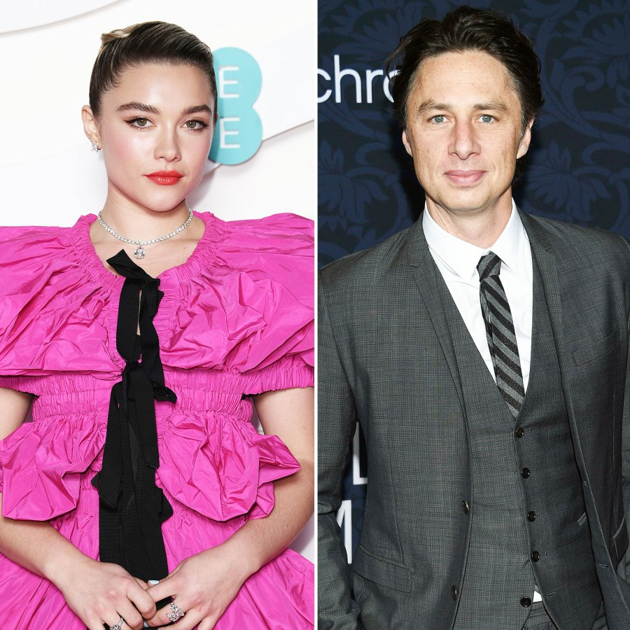 August 2018 Zach Gushes Over Florence on Social Media Zach Braff and Florence Pugh A Timeline of Their Relationship