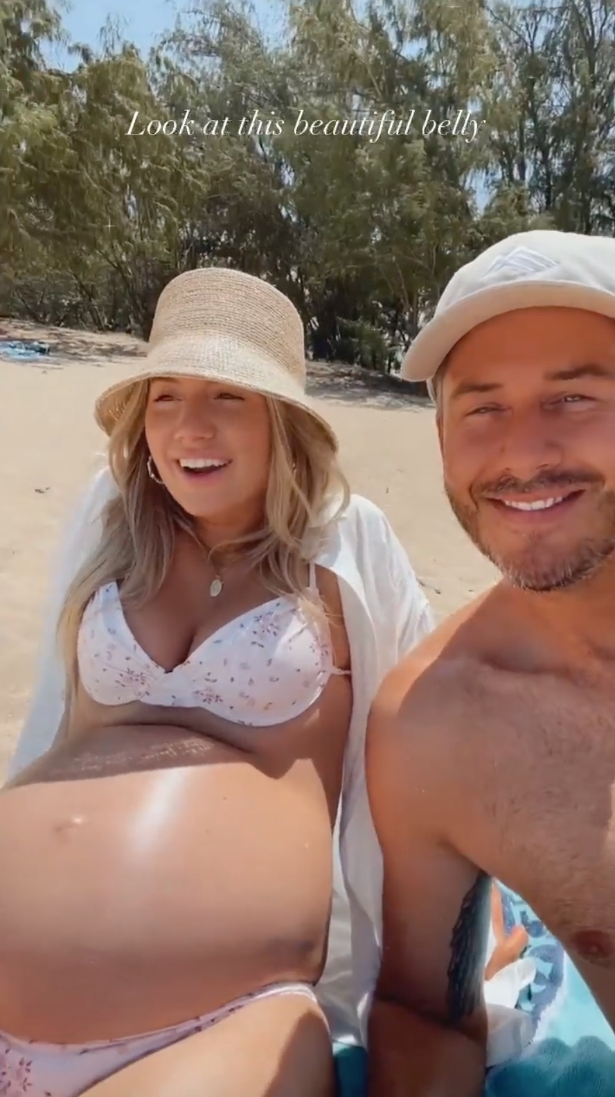 Bachelor's Lauren Burnham's Baby Bump Album Ahead of Welcoming Twins: Pregnancy Pics Beach Bums