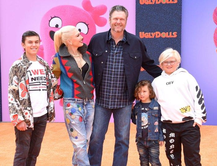 Blake Shelton Jokes About Having Twins With Fiancee Gwen Stefani Kingston Rossdale Apollo Rossdale Zuma Rossdale