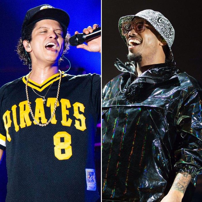Bruno Mars y Anderson .Paak traen el calor durante la actuación de Silk Sonic en los Grammys 2021