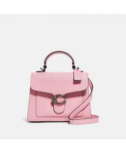 COACH Leather Tabby Top Handle 20 In Pebble Leather