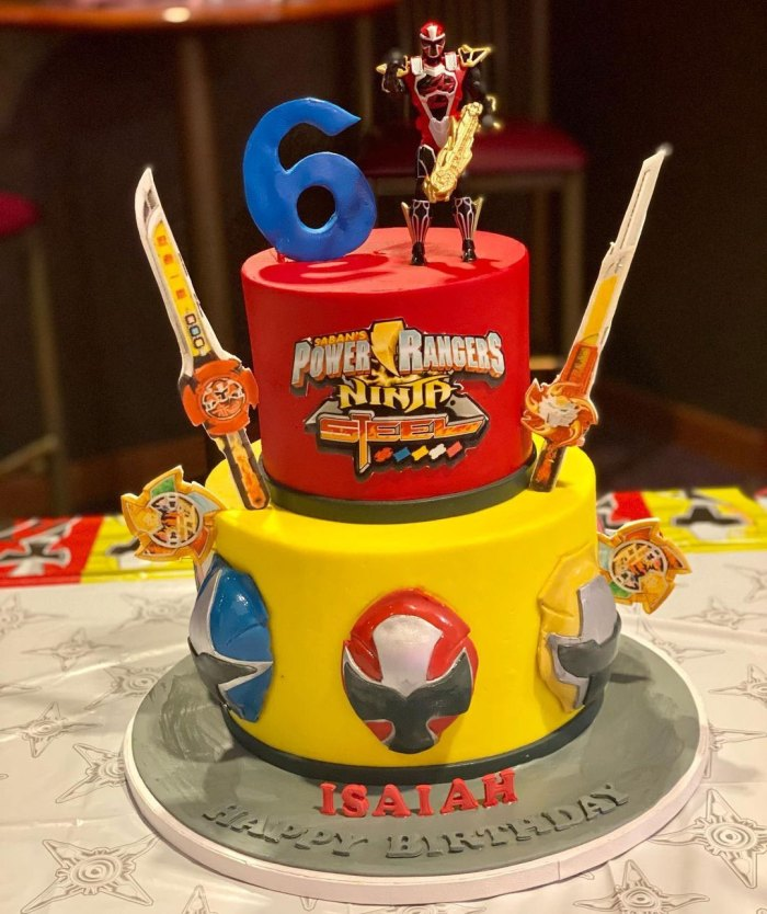 Carrie Underwood and Mike Fisher Celebrate Son Isaiah 6th Birthday Power Rangers
