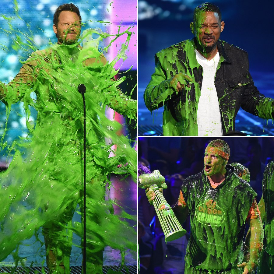 Celebs Slimed at the Nickelodeon Kids Choice Awards
