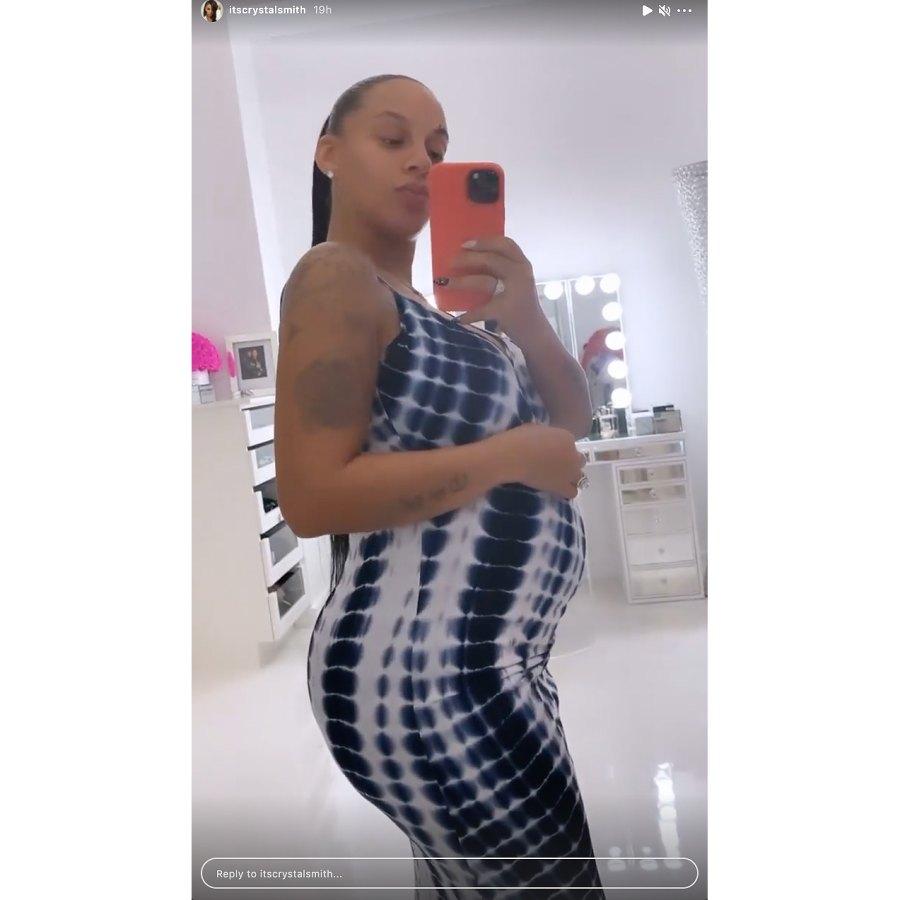 Crystal Smith baby bump 2021