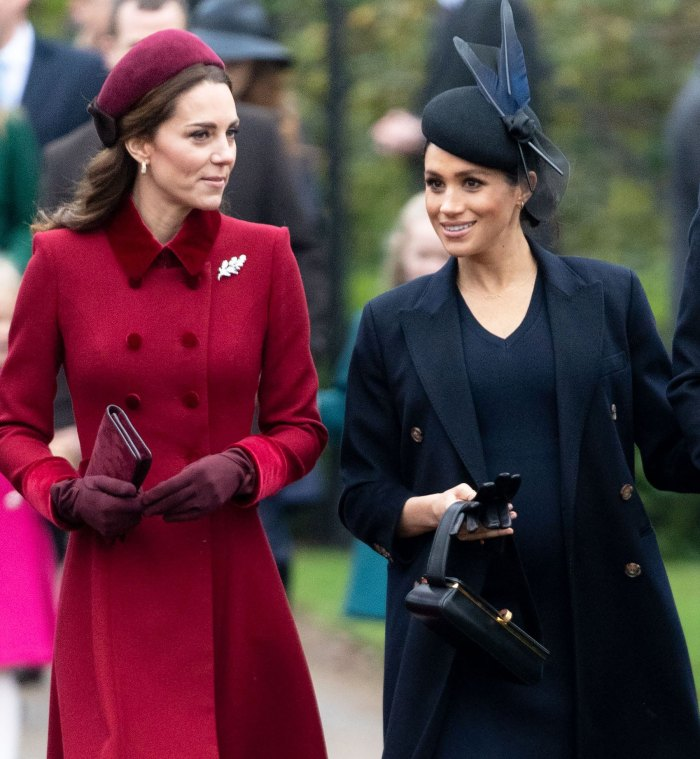 Duchess Kate and Meghan Markle Haven't Spoken 'Directly in Over a Year'