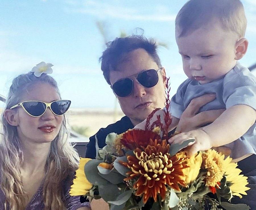 Proud Parents Family Photo Elon Musk Grimes Photos With Son X AE A-XII
