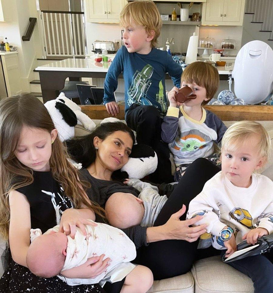 March 2021 Family Photo Hilaria Baldwin Nursing Pics With 6 Kids