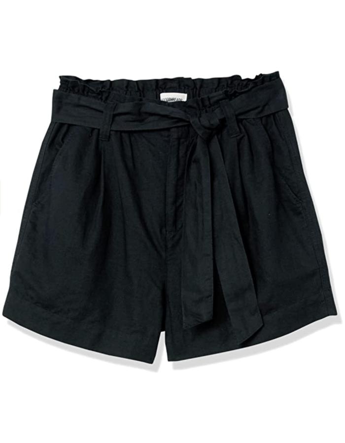 Goodthreads Women's Washed Linen Blend Paper Bag Waist Shorts