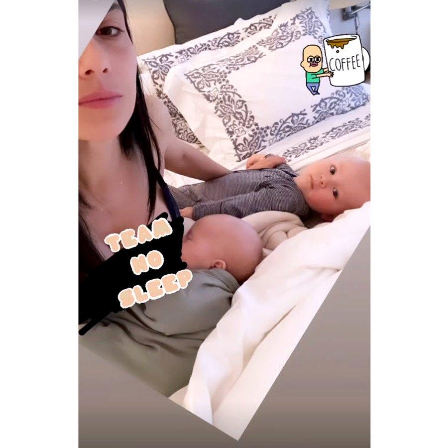 March 2021 Hilaria Baldwin Nursing Both Eduardo Lucia