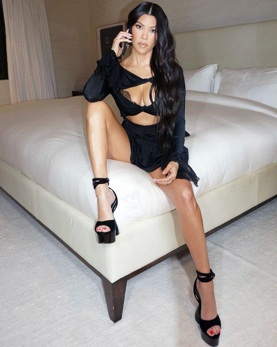 Kourtney Kardashian Wears Lacy Bra for Night Out: Pics