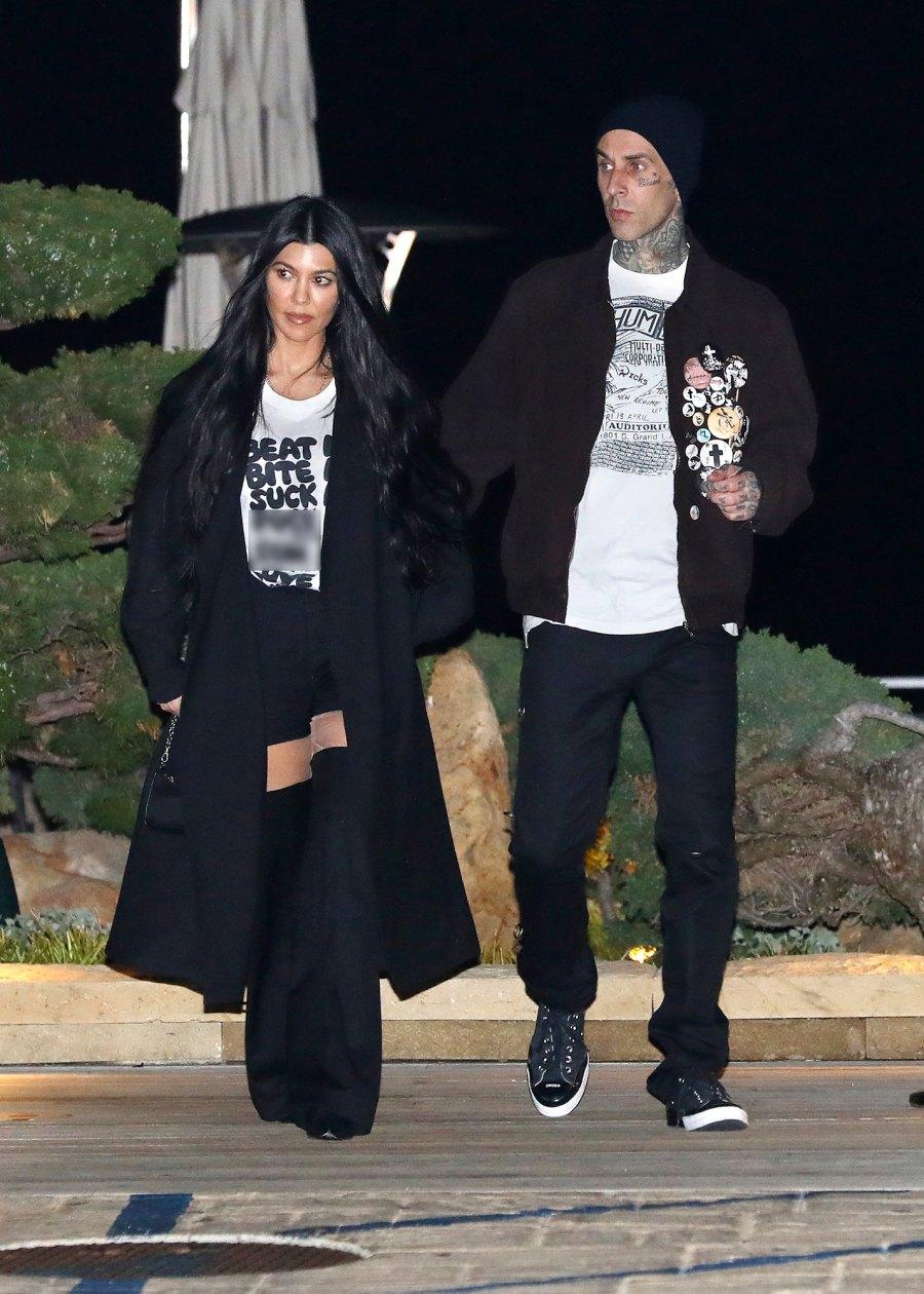 Kourtney Kardashian Wears Suggestive T-Shirt on Date Night With Travis Barker