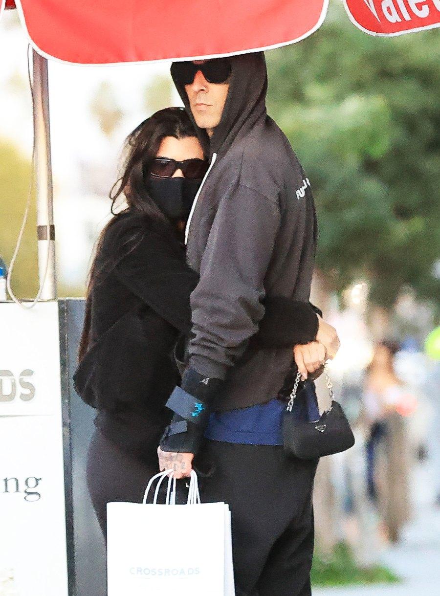 Kourtney Kardashian and Travis Barker Cuddle After Date