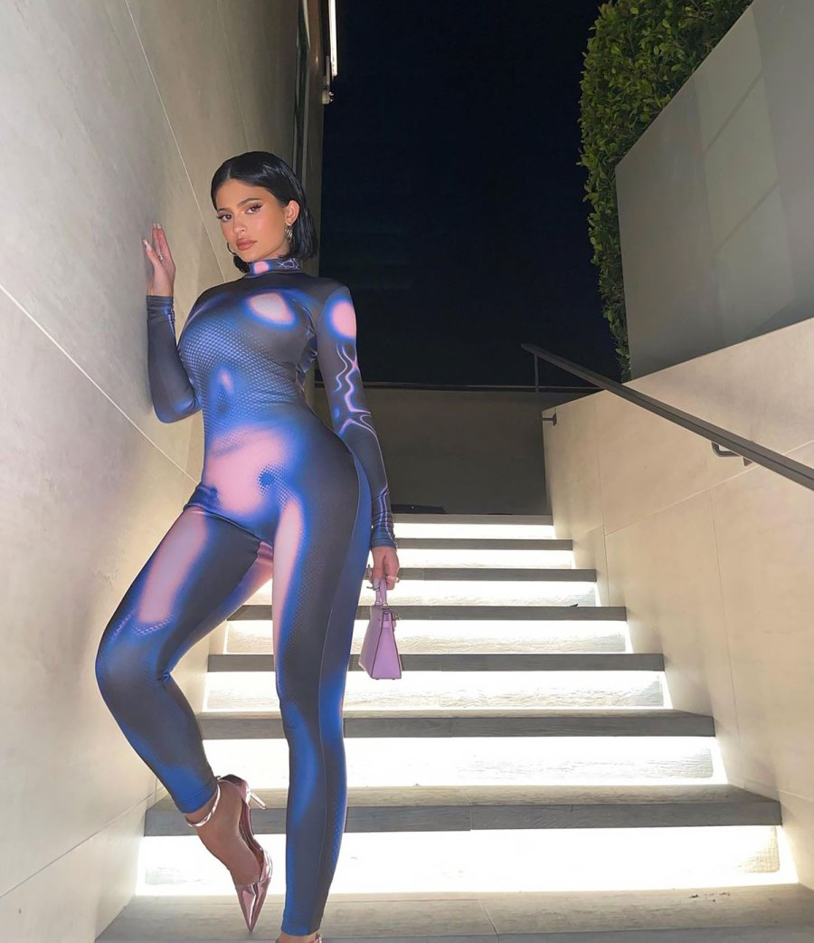 Kylie Jenner's Couture Alien Suit Blends in With the Night Sky