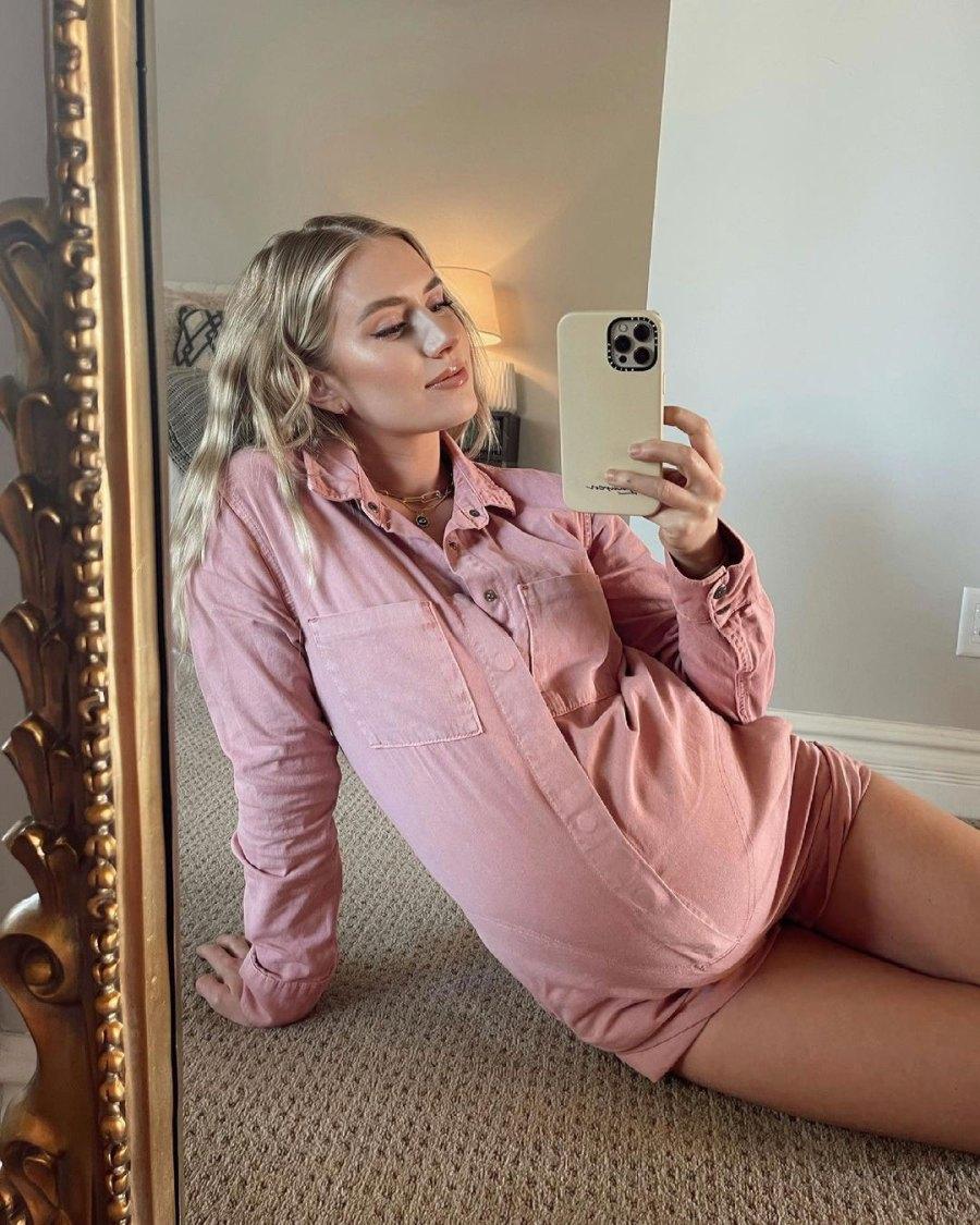 Lauren Burnham Luyendyk Baby Bump Pink