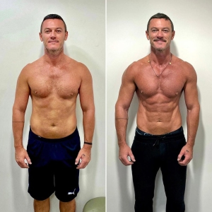Luke Evans Shows Off Chiseled Abs After 8 Months of Gym 'Work': See the Before and After