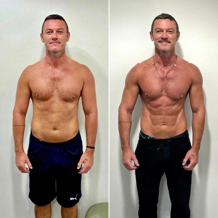 Luke Evans muestra abdominales cincelados después de 8 meses de 'trabajo' en el gimnasio: vea el antes y el después