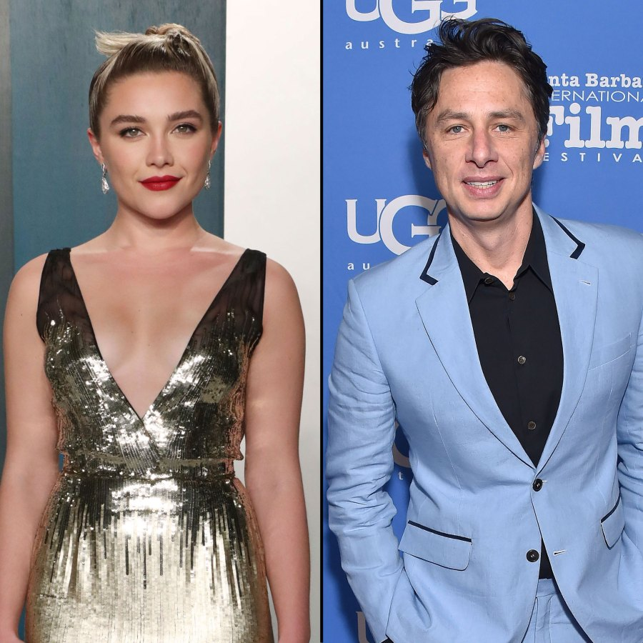 May 2020 Date Nights in Quarantine Zach Braff and Florence Pugh A Timeline of Their Relationship
