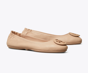 Minnie Travel Ballet Flat, Leather