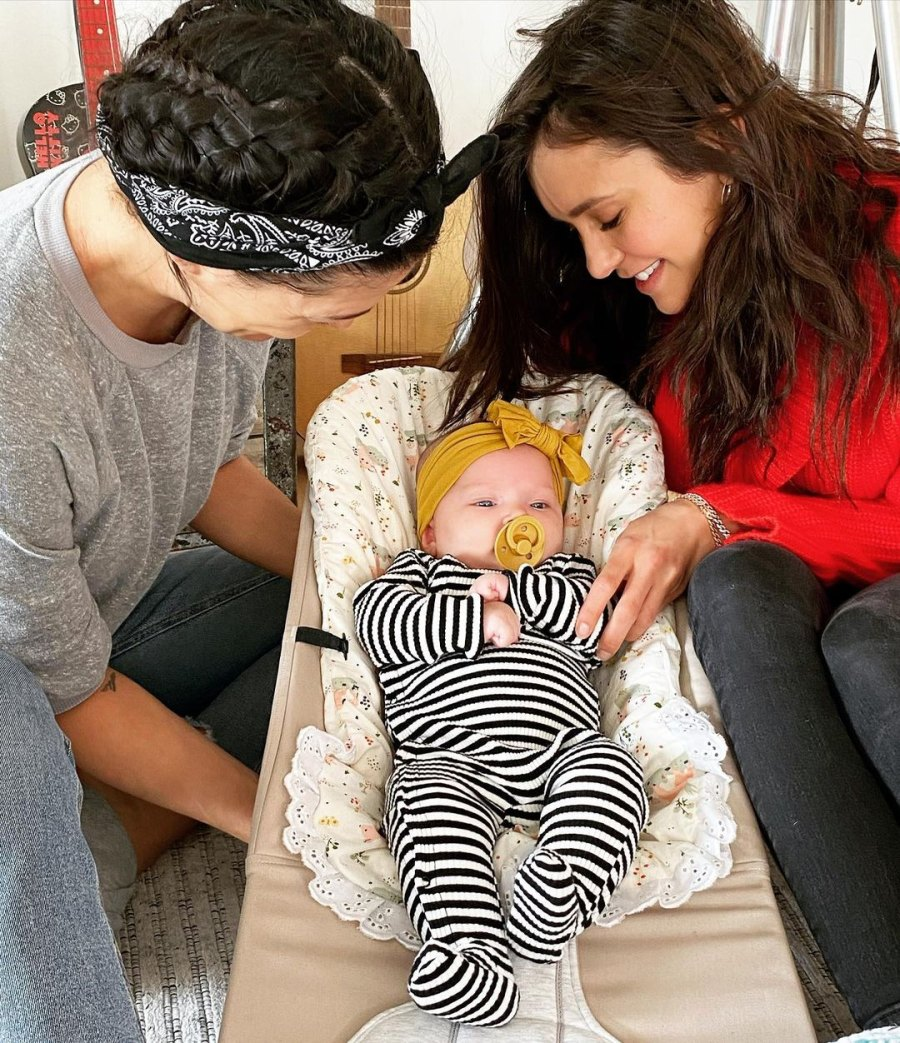 Nina Dobrev Meets Jessica Szohr's Perfect 2-Month-Old Daughter
