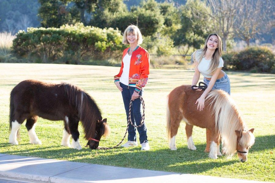 Olivia Newton-John and Chloe Lattanzi-Inside a Day in Our Life Horse