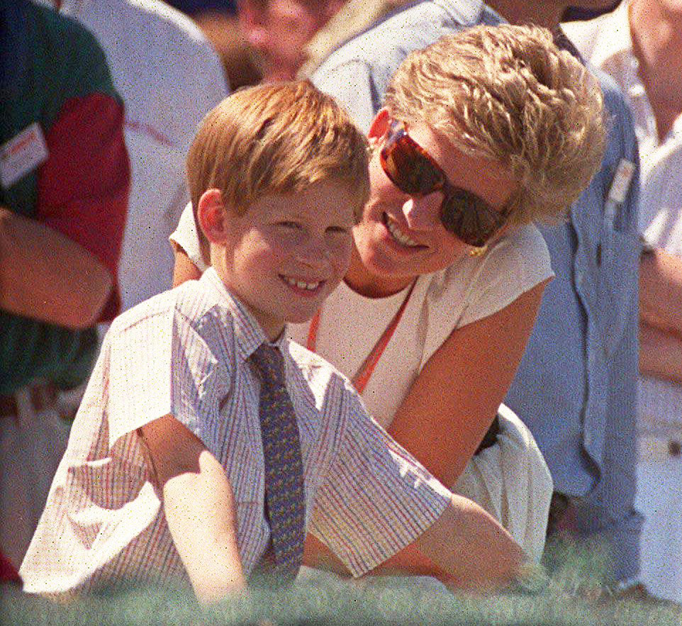 Prince Harry and Princess Diana in 1994 Prince Harry Says Royal Family Cut Him Off Financially After Exit and Relying on Princess Diana Inheritance