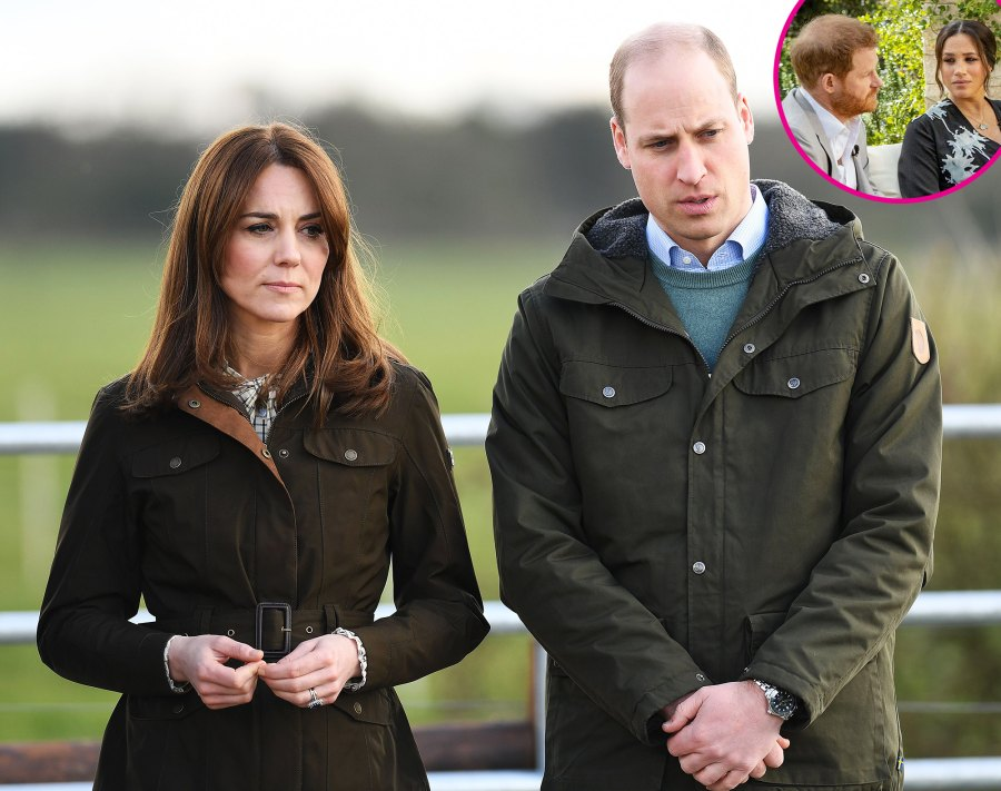 Prince William, Kate React to Harry and Meghan's Bombshell Interview p