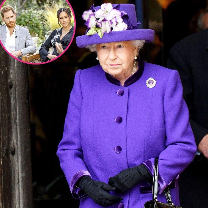 La reina Isabel II ha sido reuniones de crisis constantes desde que el príncipe Harry Meghan Markle causó estragos en la familia real