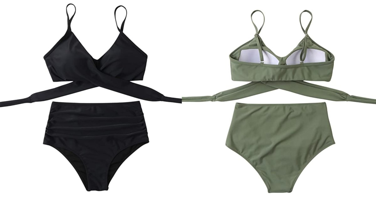 This Bestselling Ruched Bikini Will Help You Feel Confident on the Beach