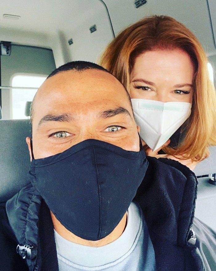 Sarah Drew y Jesse Williams se reencuentran en Greys Anatomy Set