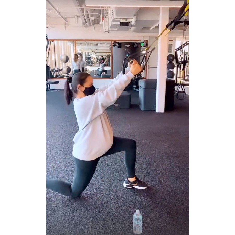 Weight Lifting Scheana Shay Baby Bump Pics