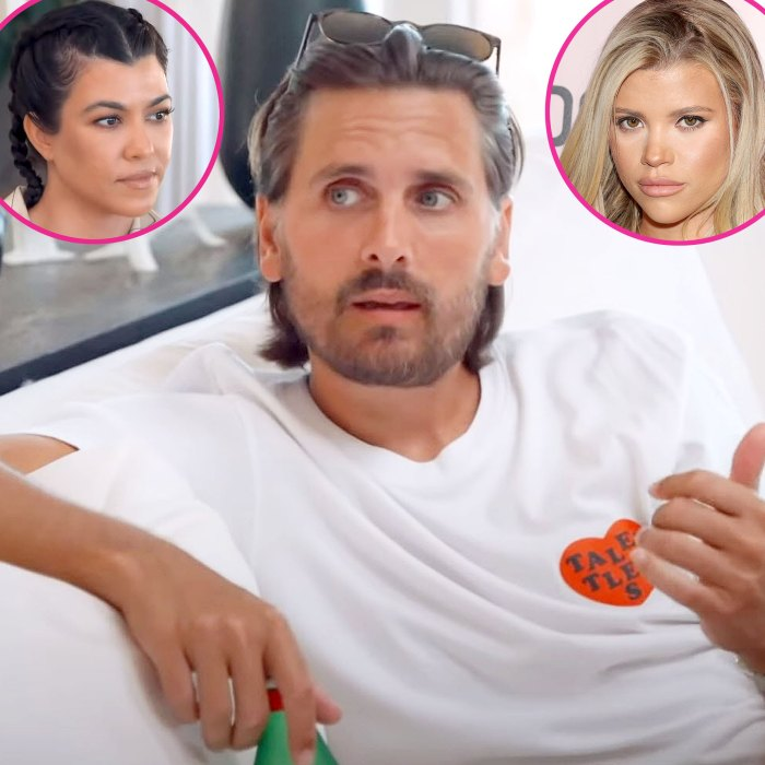 Scott Disick busca el consejo de Kourtney Kardashian sobre el clip de KUWTK dividido de Sofia Richie