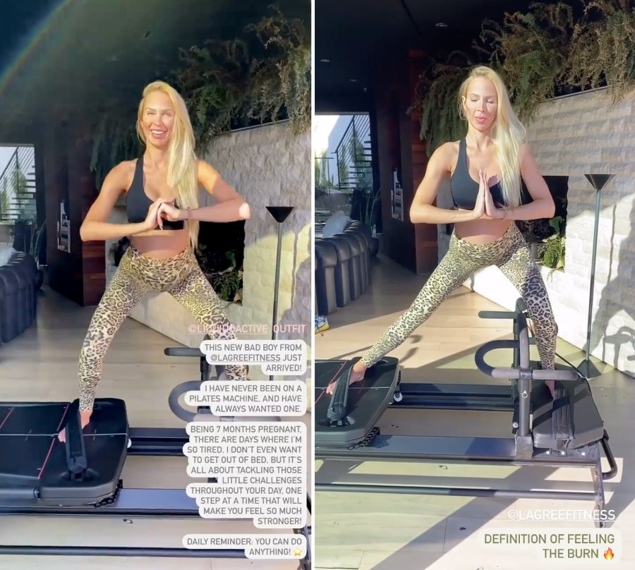 See Christine Quinn Working Out at 7 Months Pregnant 1
